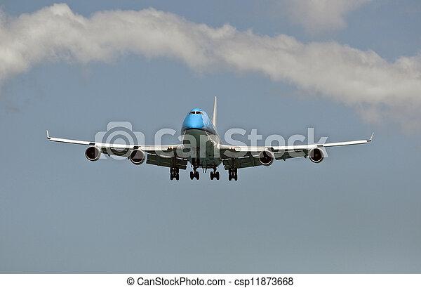 Air transportation: passenger airplane. - csp11873668