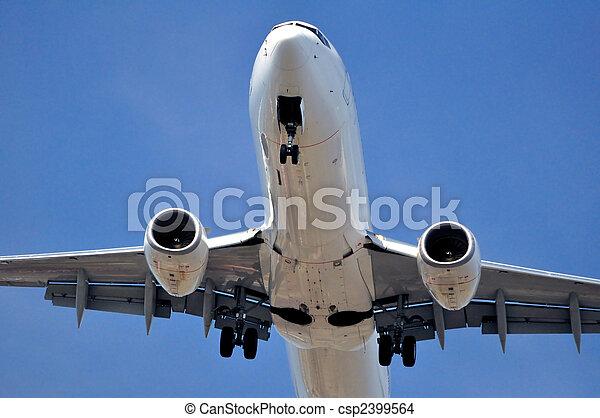 Air transportation: passenger airplane - csp2399564