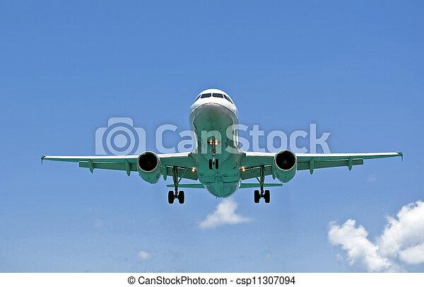 Air transportation: passenger airplane. - csp11307094