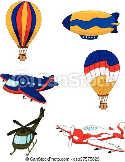 air transportation set cartoon - csp37575823