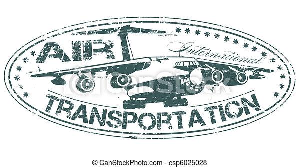 Air transportation stamp - csp6025028