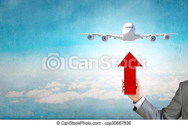 Air transportation - csp30667836