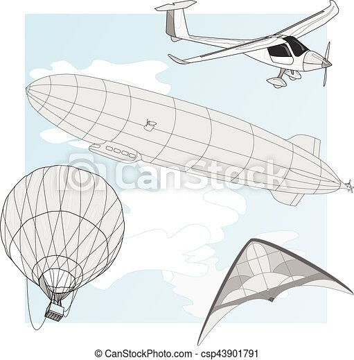 air transportation vector set - csp43901791