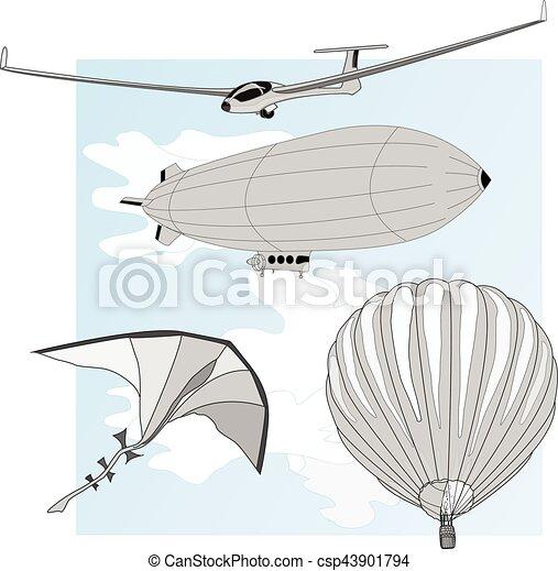 air transportation vector set - csp43901794
