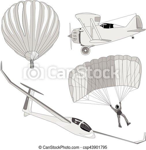 air transportation vector set - csp43901795