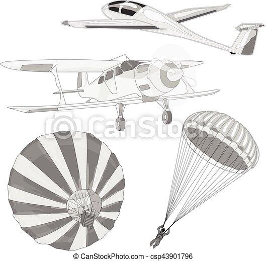 air transportation vector set - csp43901796