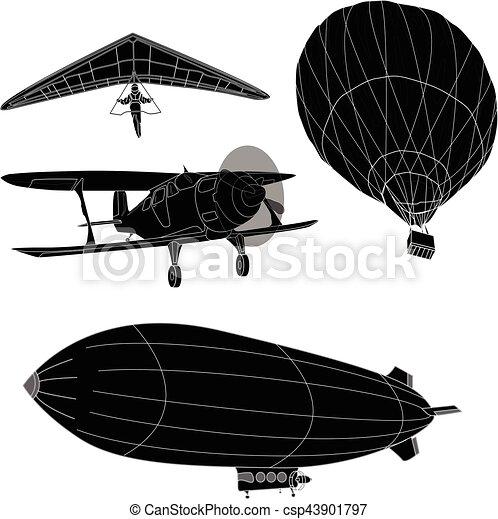 air transportation vector set - csp43901797