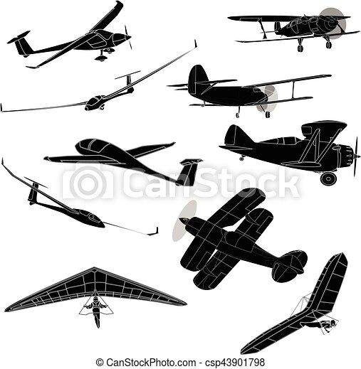 air transportation vector set - csp43901798