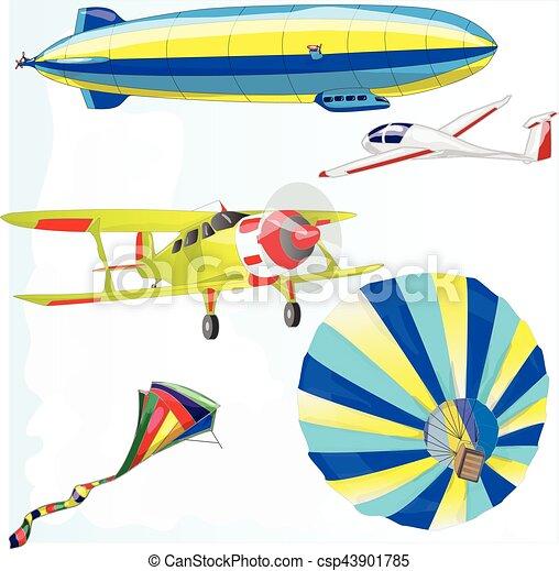 air transportation vector set - csp43901785