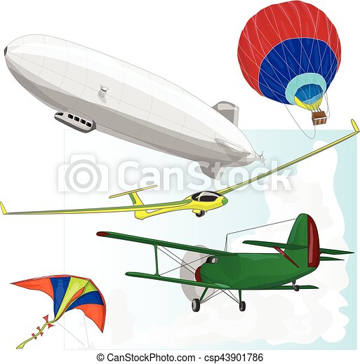 air transportation vector set - csp43901786
