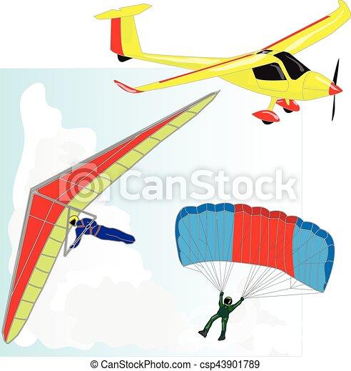 air transportation vector set - csp43901789