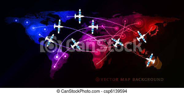 Air travel flight - csp6139594