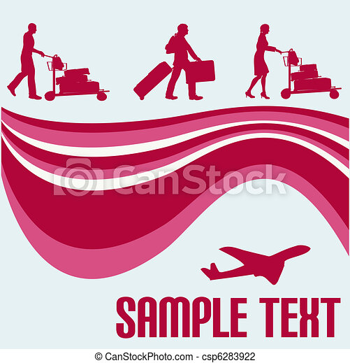 Air Travel Flyer  - csp6283922