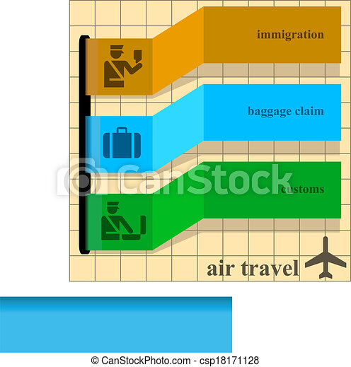 Air Travel Instructions Template With Colorful Ribbons Over A Brown