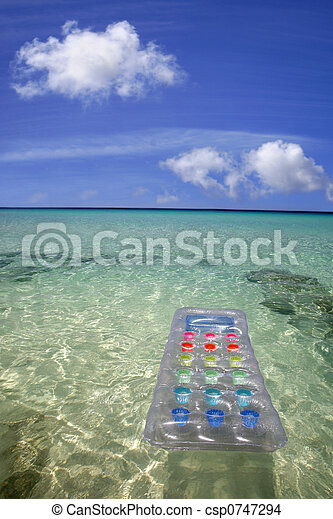 Airbed in the Sea - csp0747294