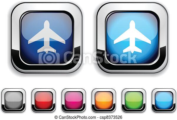 Aircraft button. - csp8373526