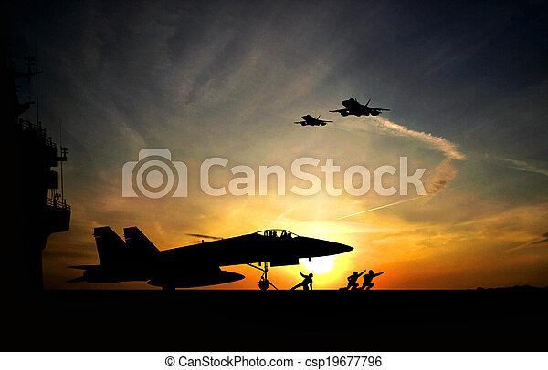 Aircraft carrier - csp19677796