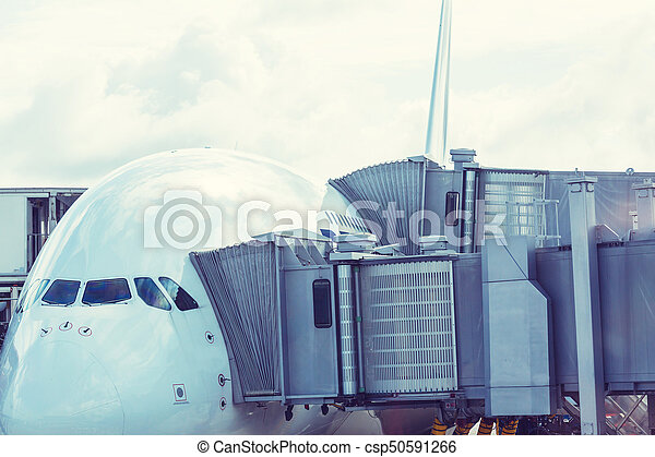 Aircraft in airport - csp50591266