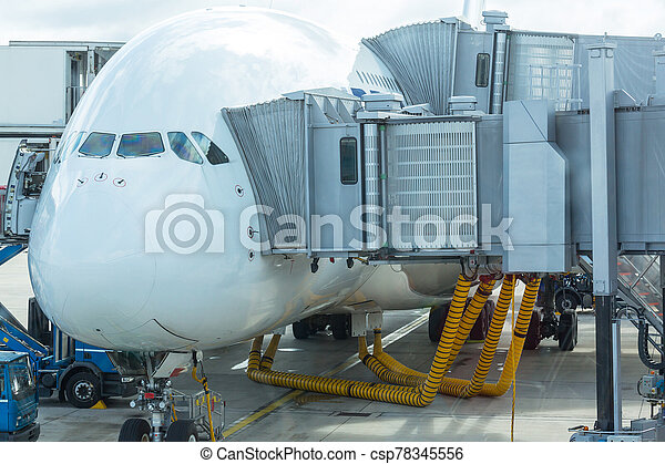 Aircraft in airport - csp78345556