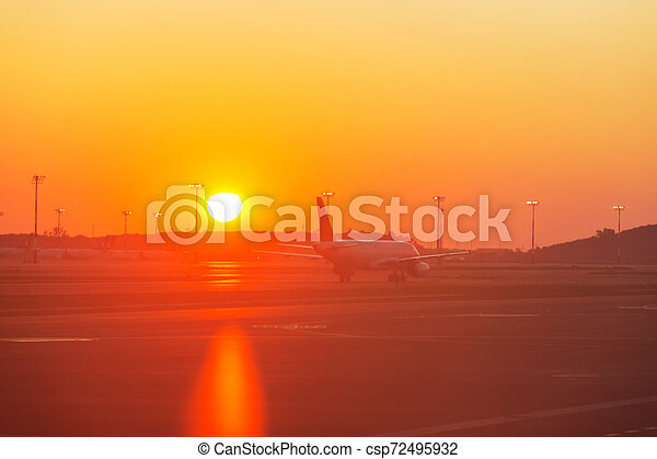 Aircraft in airport - csp72495932