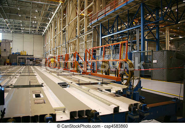 Aircraft Manufacturing Tool Jig Assembly Line - csp4583860