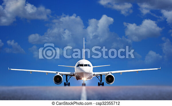 Aircraft on runway - csp32355712