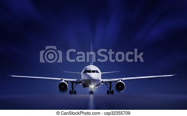 Aircraft on runway - csp32355709