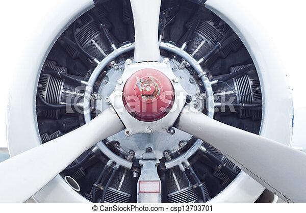 Aircraft round piston engine. - csp13703701