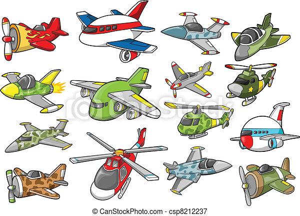 Aircraft Set Vector Illustration - csp8212237