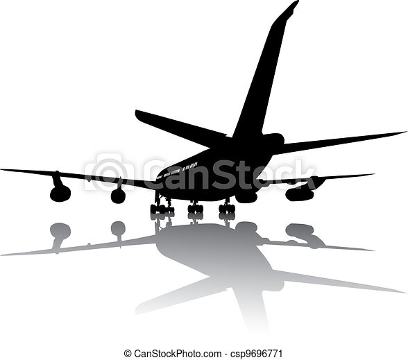 Aircraft silhouette - csp9696771