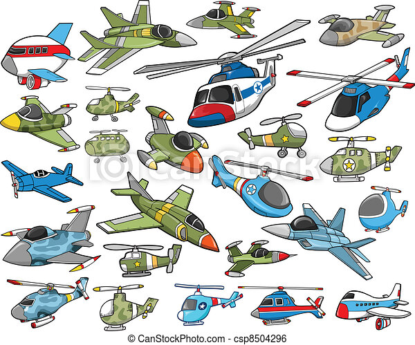 Aircraft Transportation Vector Set - csp8504296
