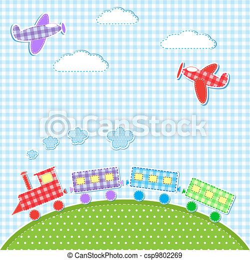aircrafts and train - csp9802269