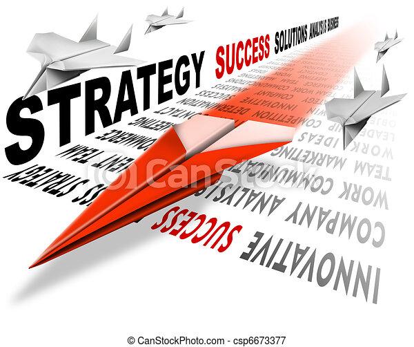 El éxito de la estrategia aérea - csp6673377