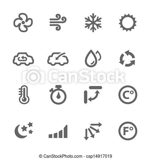 aire acondicionado, iconos - csp14917019