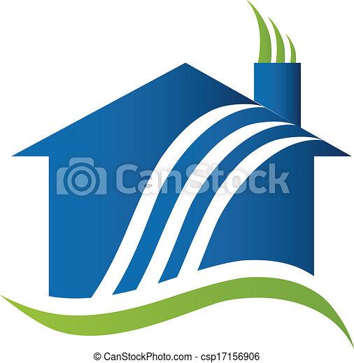 aire, logotipo, reciclaje, casa - csp17156906