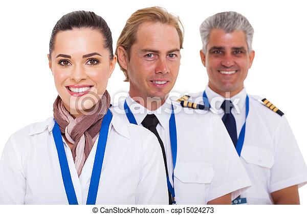 airline crew close up portrait - csp15024273