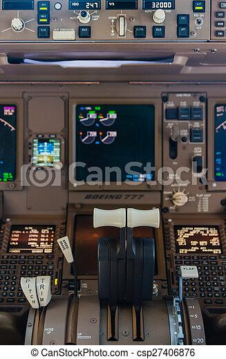 Airliner cockpit details - csp27406876