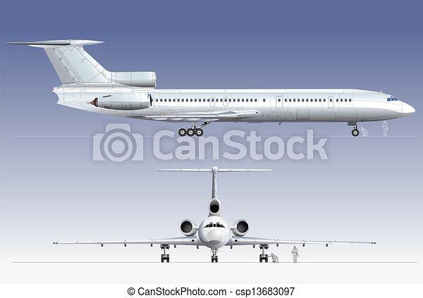 airliner passageiro, hi-detailed - csp13683097