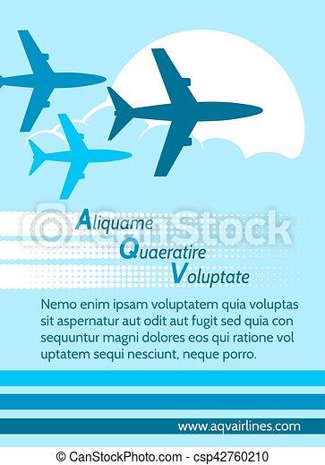 Airlines retro poster - csp42760210