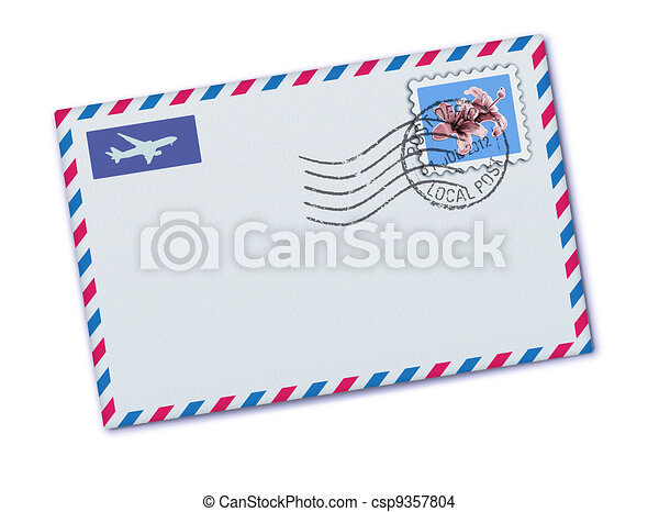 airmail envelope illustration of blank airmail envelope with stamp