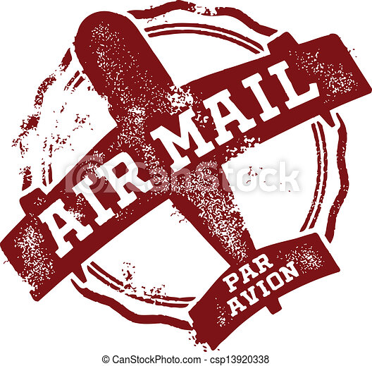 Airmail Postage Mark - csp13920338