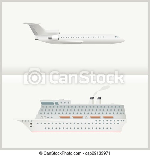 Airplane and cruise liner