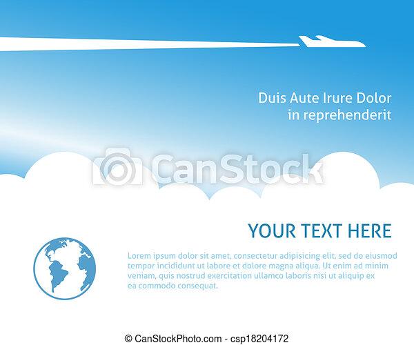 Airplane background - csp18204172