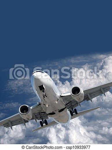 Airplane before landing - csp10933977