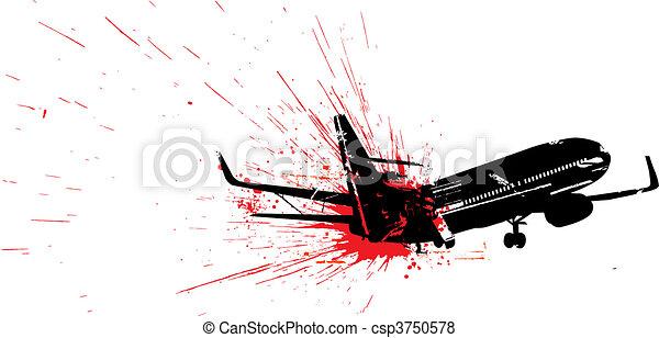 Airplane crash - csp3750578
