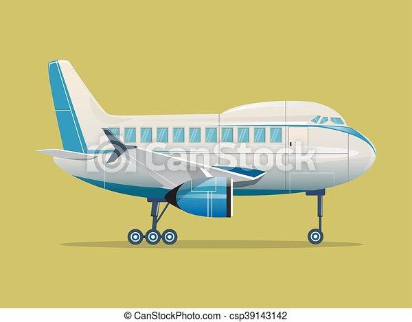 Airplane flat vector illustration - csp39143142