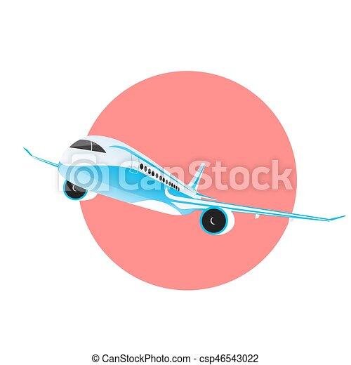 airplane flying in the sky - csp46543022