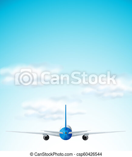 Airplane flying on the sky - csp60426544