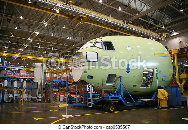Airplane Fuselage In Production - csp0535507