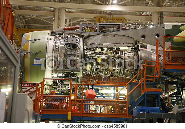 Airplane Fuselage in Production - csp4583901